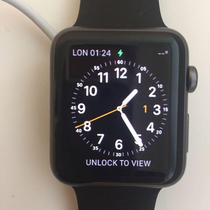 Apple Watch Series 1 42mm Space Grey Aluminium Case Black Sport Band - (MP032B/…   eBay