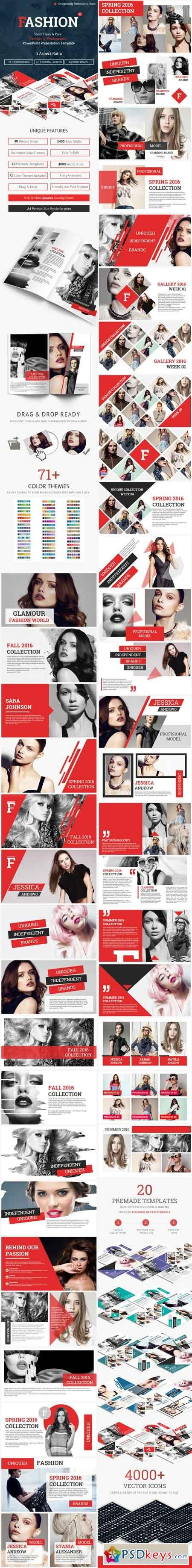 Fashion and Photography PowerPoint Presentation Template 15341625