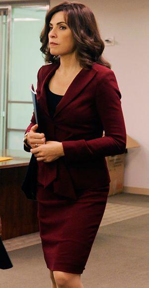 """I love this color! Season 4, Episode 2 Oscar de la Renta Suit  that was de-extremed"""" for the show.  I love the suit, and I love the color.  I want it so badly."""