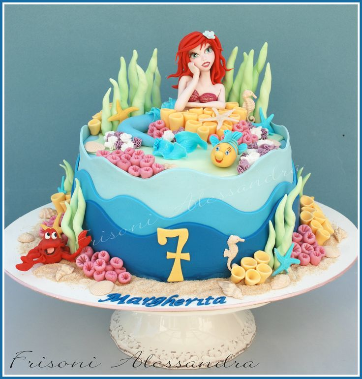 Ariel cake little mermaid frisoni alessandra studio cake for Ariel cake decoration