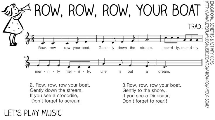 row row your boat lyrics   ... (vocal line) for Row, Row, Row Your Boat , click on the thumbnail