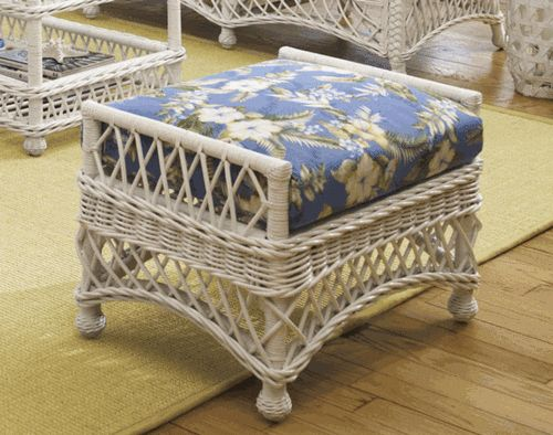 #Bar #Harbor #Wicker #Ottoman made by @. Amazing like... | Wicker Blog  wickerparadise.com