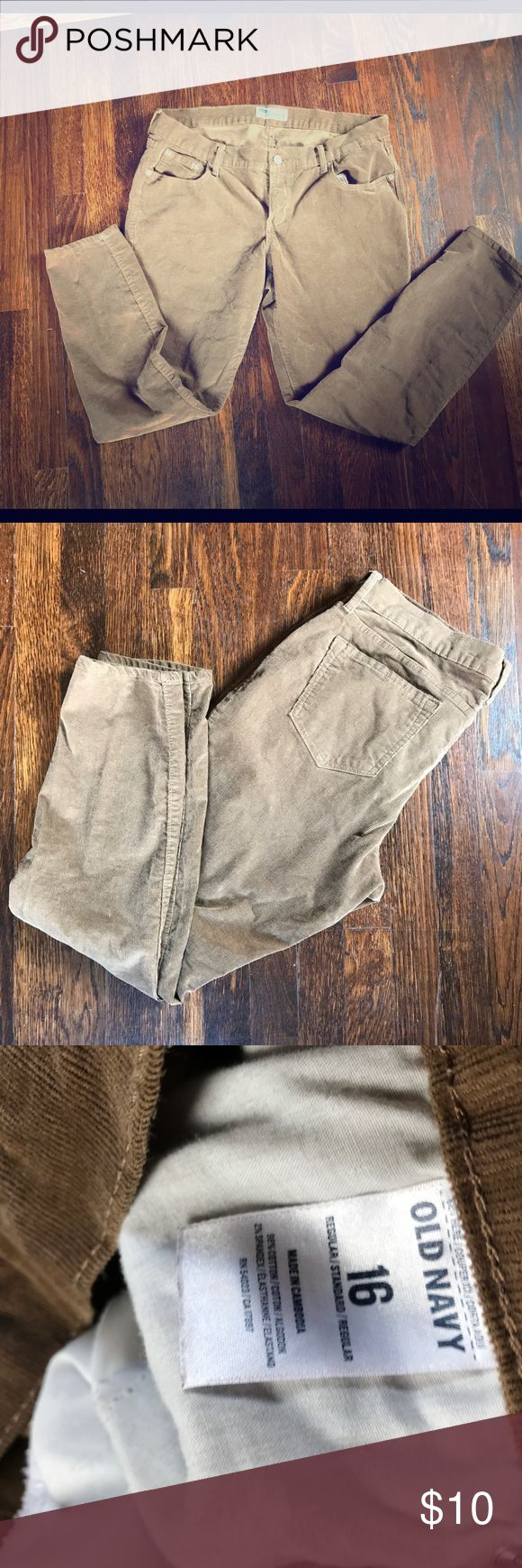 Brown Corduroy Rock Star Skinny Good condition, lightly used. Ask any questions Old Navy Jeans Skinny