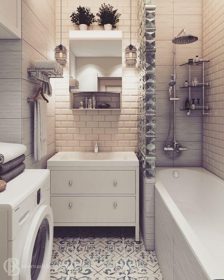 Ванная комната 3,3м2  в стиле лофт в маленькой квартире 3.3 m2 Loft bathroom in small apartment