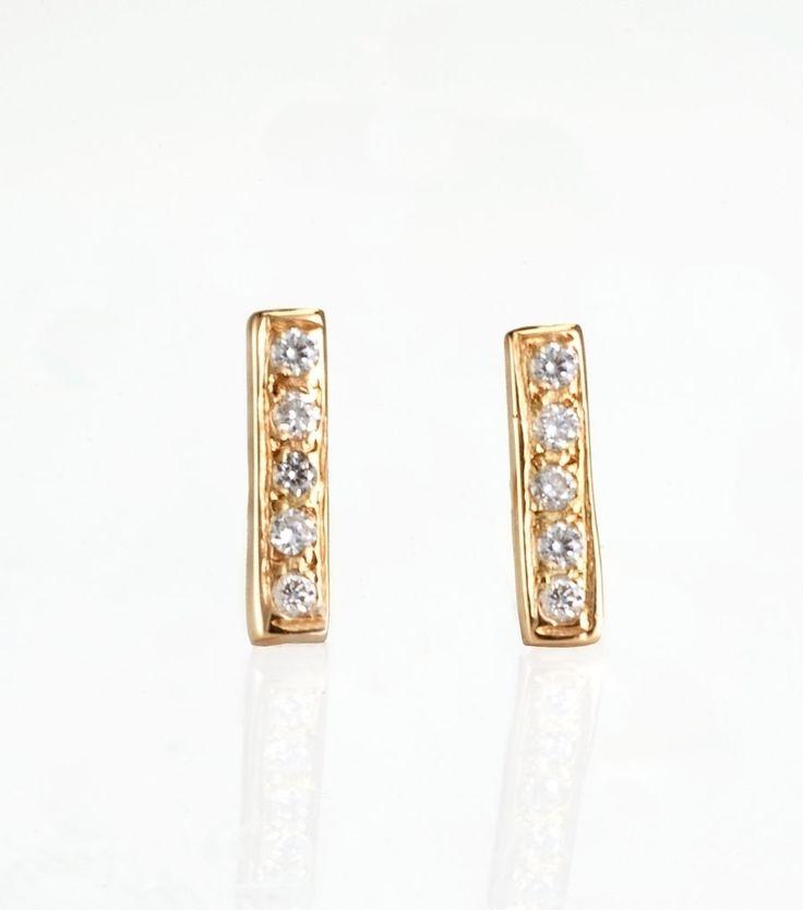 catbird::Diamond Bar Earrings: Bar Earrings, Style, Diamonds, Shops, Jewelry, Satomi Kawakita