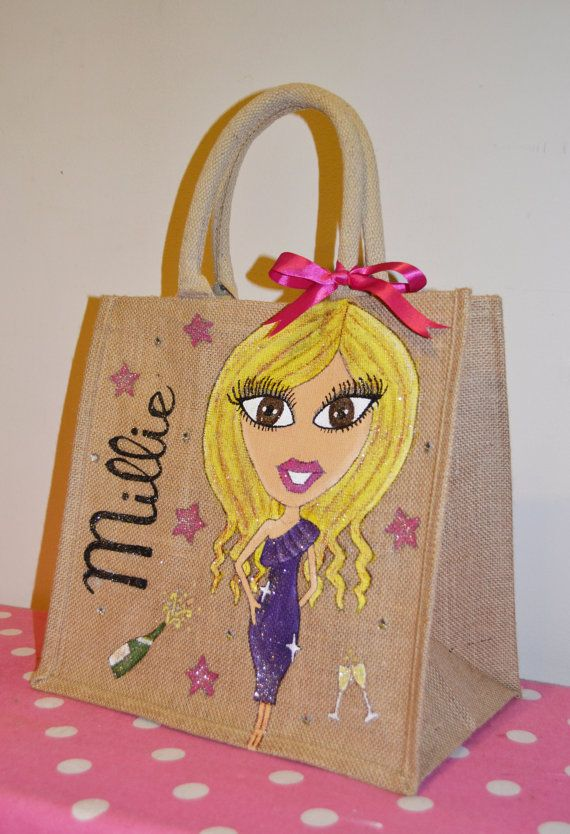 Personalised Jute Bags by lucyelen on Etsy, £15.50