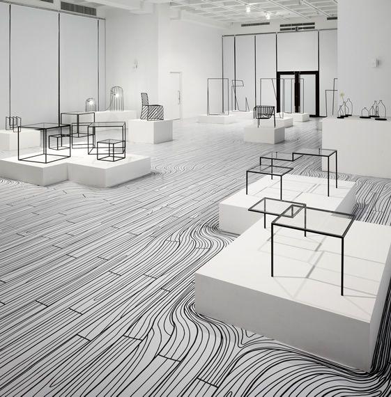 Floor Pattern - river. Nendo Exhibition - floor pattern
