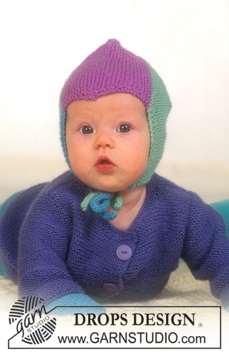 DROPS vest, broek, muts, wanten, slofjes en sjaal in ribbelst van Baby-merino. Deken van Karisma.   Gratis patronen van DROPS Design.