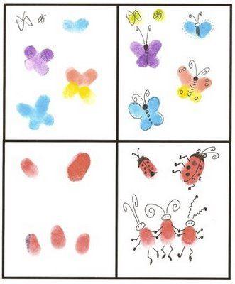 Fingerprint art - (I'm always looking for fingerprint art ideas)