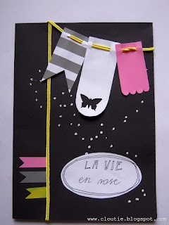 La vie en rose card - by me:)