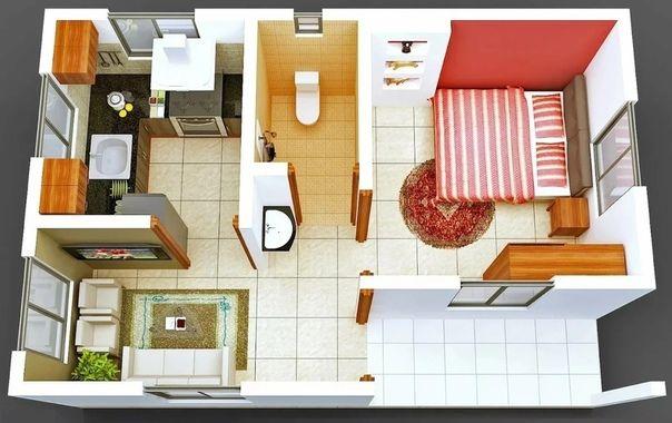 Idei Malogo Biznesa In 2020 One Bedroom House One Bedroom House Plans Tiny House Interior Design