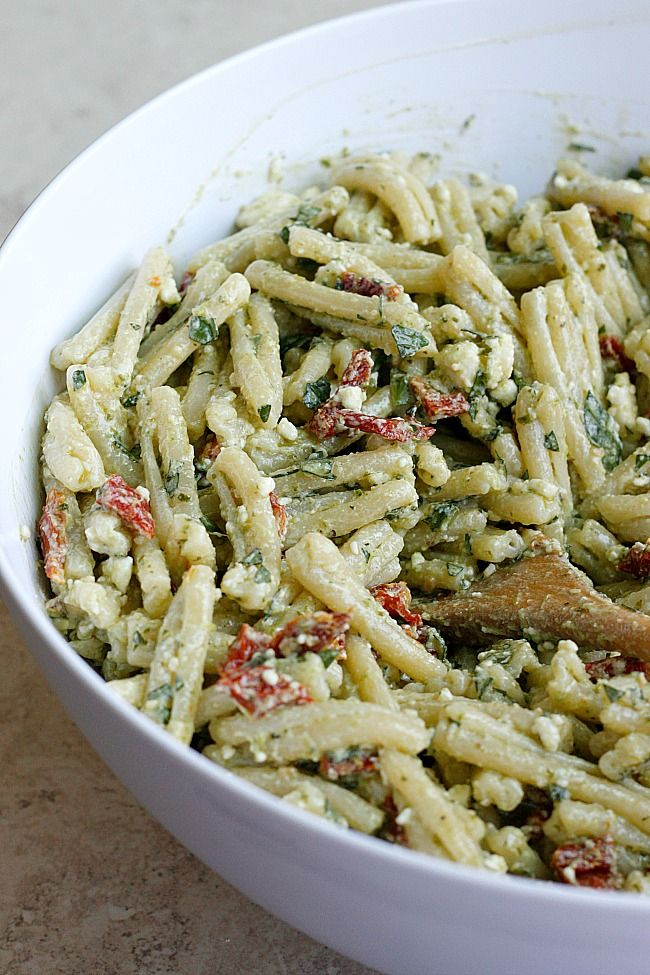 Creamy Pesto & Sundried Tomato Pasta Salad More