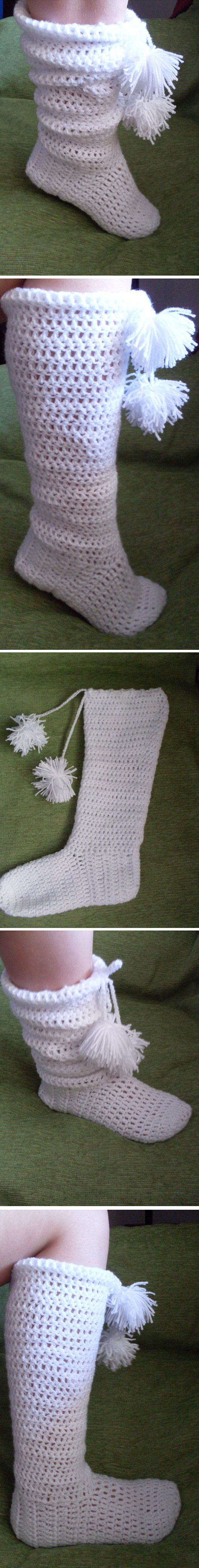 Slipper Boots to crochet - *Inspiration*