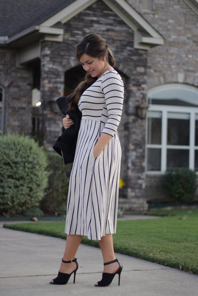 Kaitlyn Stripe Dress