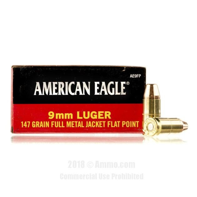 Federal 9mm Ammo - 1000 Rounds of 147 Grain FMJ Ammunition