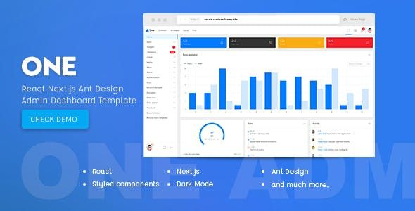 One - React Next js & Ant Design Admin Template - Admin Templates