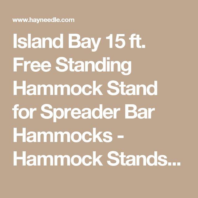 Island Bay 15 ft. Free Standing Hammock Stand for Spreader Bar Hammocks - Hammock Stands & Accessories at Hayneedle