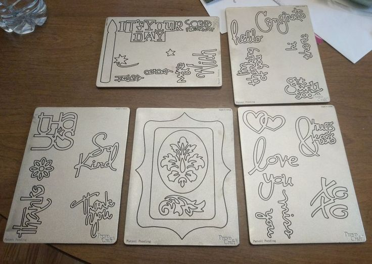 Provo Craft Cuttlebug  Die Cut lot - love  you thanks congrats birthday picture #Cuttlebug