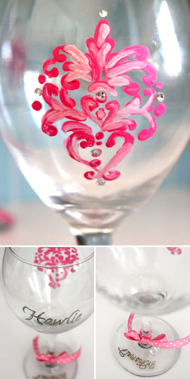 20 best Wine images on Pinterest | Painted wine glasses, Painting on ...
