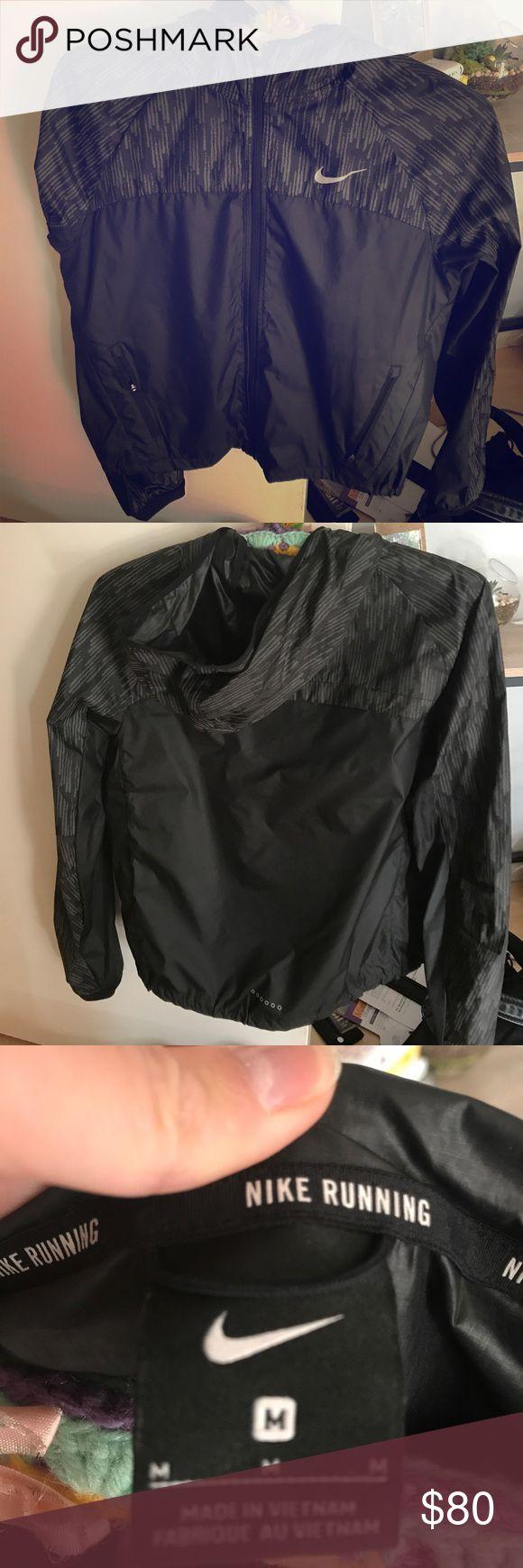 Nike rain jacket Great condition Blackreflective rain jacket Nike Jackets & Coats