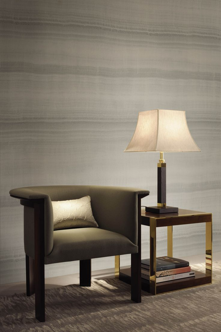 Gold and brass fixtures and faucets promising or passe apartment - Armani Casa Wallcovering