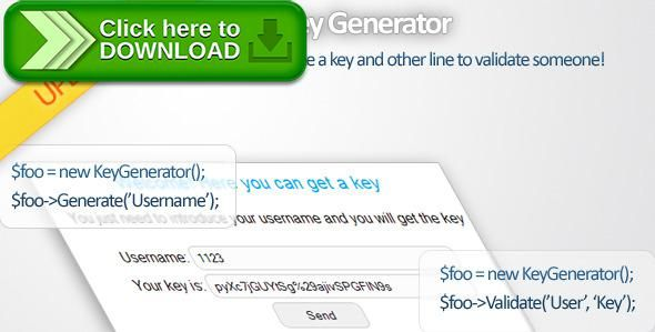 [ThemeForest]Free nulled download API Key Generator from http://zippyfile.download/f.php?id=38399 Tags: ecommerce, api, auth, control, curl, generator, get, key, script, token, user, validate