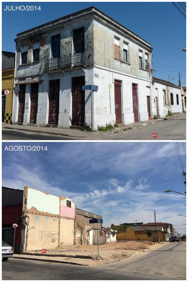 Sem qualquer ação da Prefeitura de São Paulo, imóvel da primeira padaria da Penha, do século 19, foi abaixo...