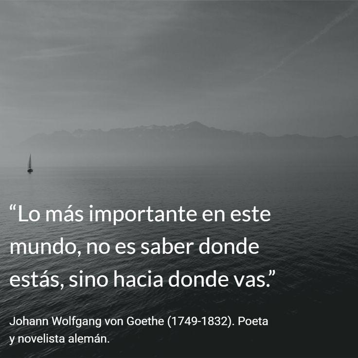 Johann Wolfgang von Goethe (1749-1832). Poeta y novelista alemán. #citas #frases