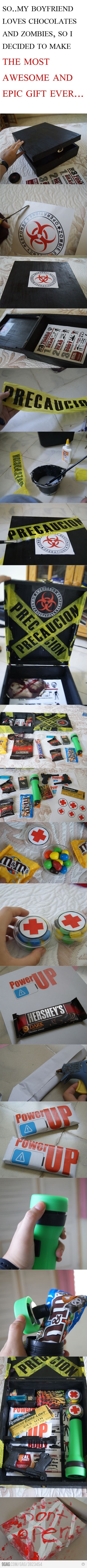 Zombie candy gift - would be cool for a party /  gift