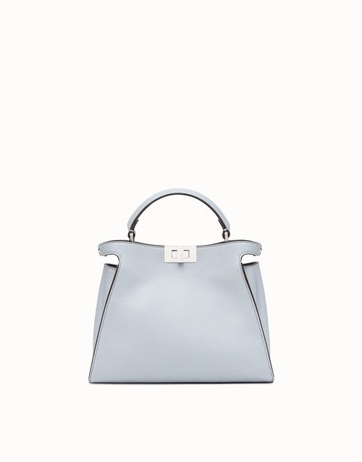 6d7461082f FENDI PEEKABOO ESSENTIALLY - Light blue leather bag - view 1 small ...