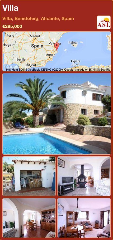 Villa in Villa, Benidoleig, Alicante, Spain ►€295,000 #PropertyForSaleInSpain