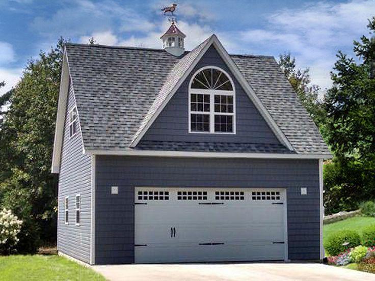 009g 0022 2 Car Garage Plan With Loft In 2020 Detached Garage Designs Garage Apartment Plans Prefab Garages