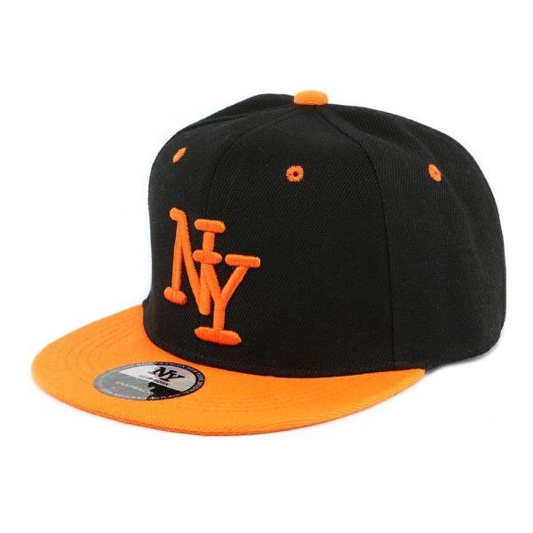 Casquette Enfant Noir et Orange New York à partir de 7 ans #mode #bonplan #cool #casquette #snapback