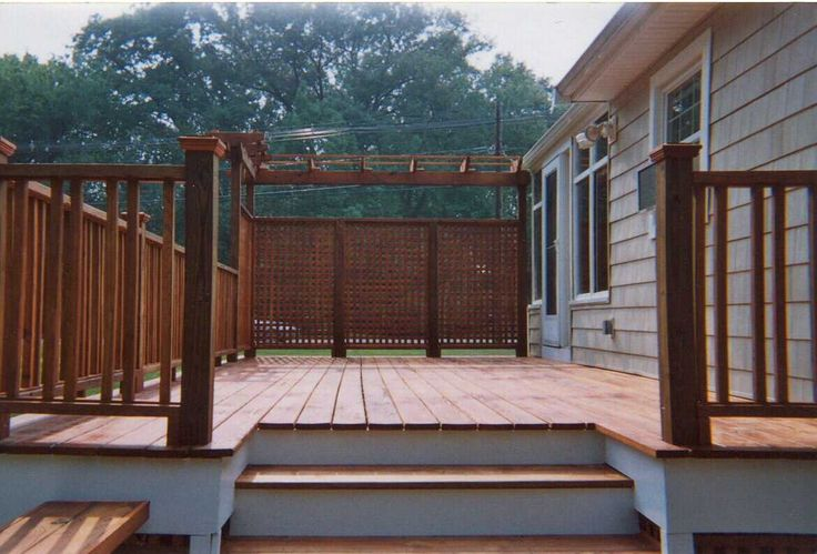 67 best deck ideas images on pinterest backyard ideas for Hanging privacy screens for decks