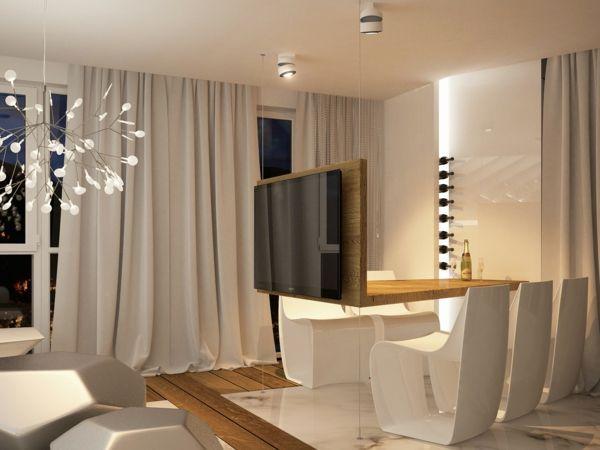 die 25+ besten ideen zu tv wand für flachbildfernseher auf ... - Weisse Wohnung Futuristisch Innendesign