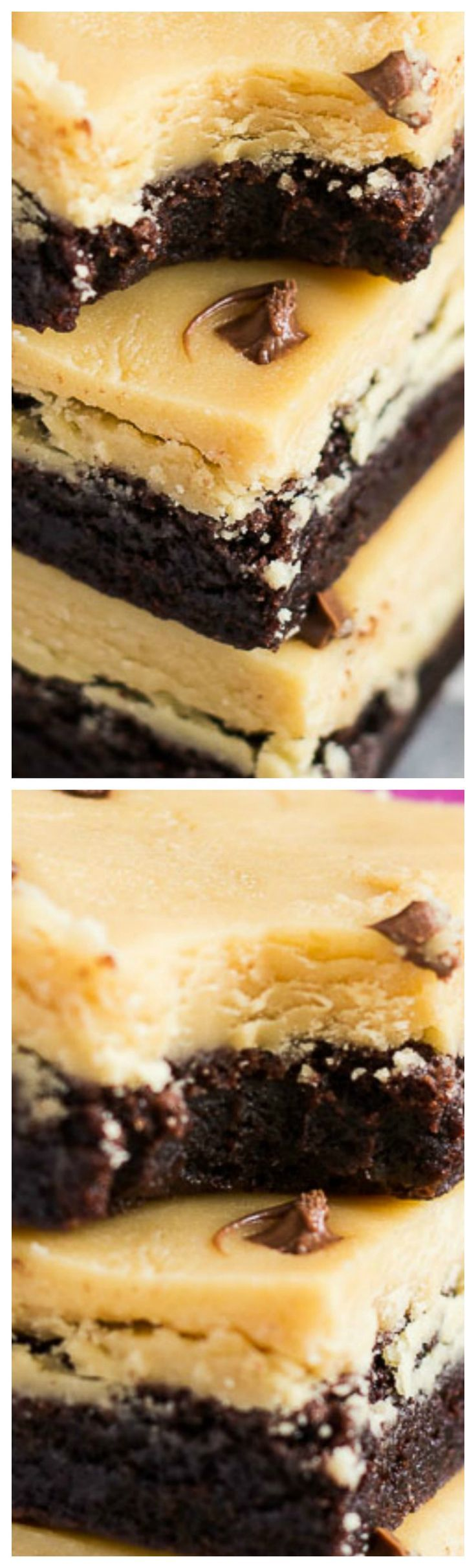 Peanut Butter Fudge Brownies ~ Deliciously thick and chewy rich chocolate brownies that are topped with a thick layer of creamy peanut butter fudge!