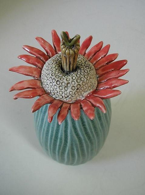 ceramic flower More