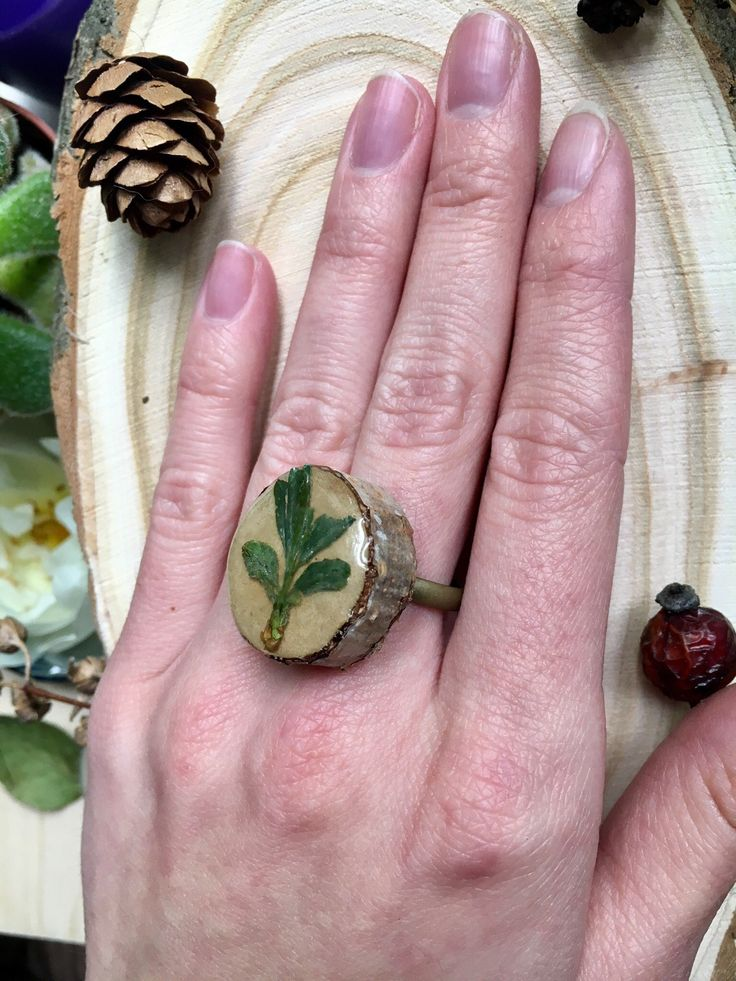 Forest jewelry, Natural jewelry, big ring