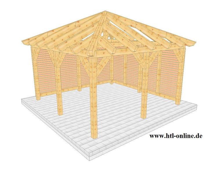 Uberdachung Aus Holz Htl Holztechnik Holz Arbeit Mit Holz Uberdachung Aus Holz Uberdachung Holz Carport Holz Uberdachungen