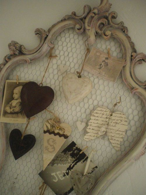 chicken wire and a old frame