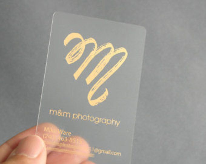 200 Business Cards Frosted Plastic Stock Gold Or Silver Metallic Foil Recyclable Opaque Eco Friendly Clear Translucent See Through Usa Plastic Business Cards Custom Business Cards Business Cards