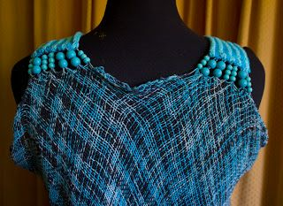 Detalle del cuello vestido Sprang.