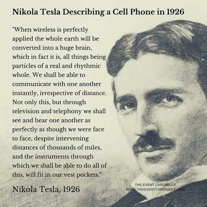 Tesla described a cell phone in 1926!