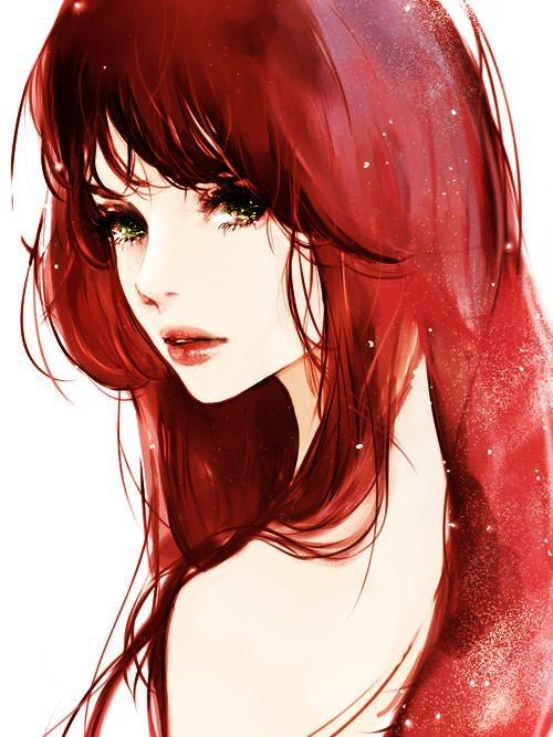 how to draw red hair