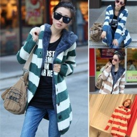 New Oversized Winter Hoodie thicken womens knitted Cardigan Sweater Parka Coats on AliExpress.com. $28.59