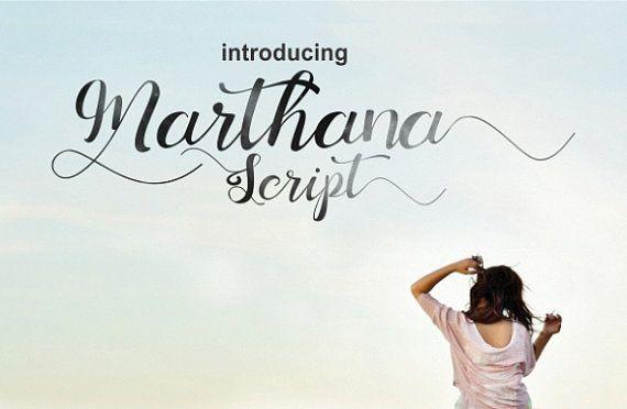 Marthana Schreibschrift  handschriftliche von littlebigcrafter