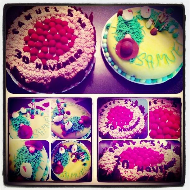 Sonens 5års tårtor