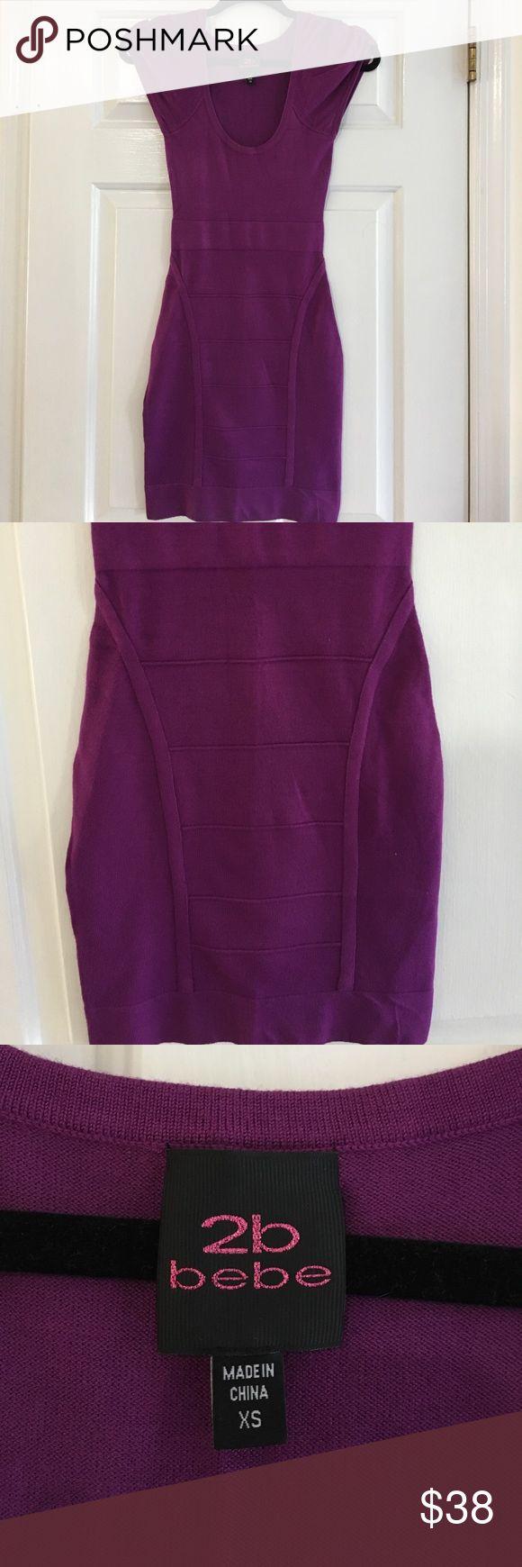 2B Bebe Purple mini dress Purple mini dress from 2B Bebe. Cap sleeve. Fun, sexy, girls night out dress! 💄 2B Bebe Dresses Mini