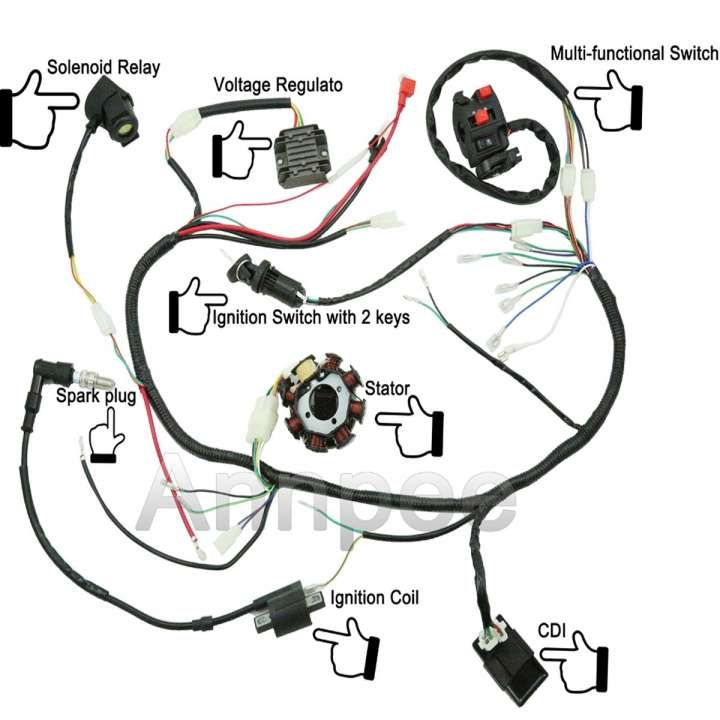 10 Cdi Motorcycle Wiring Diagram Motorcycle Diagram Wiringg Net Motorcycle Wiring 50cc Dirt Bike Atv Quads