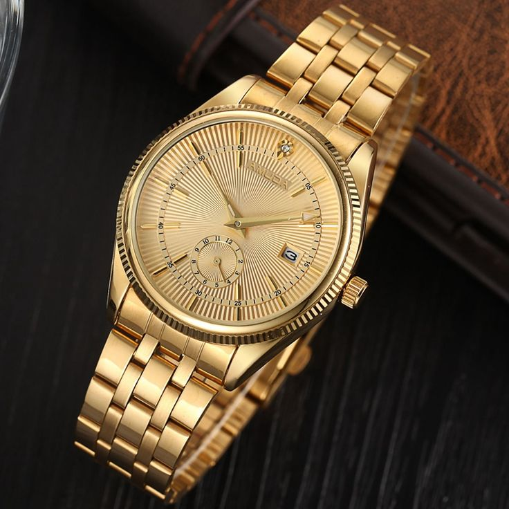 Top Fashion Brand Luxury AMUDA Watches Men Golden Watch Business Casual Quartz Wristwatch Waterproof Male Relogio Masculino-in Quartz Watches from Watches on Aliexpress.com | Alibaba Group